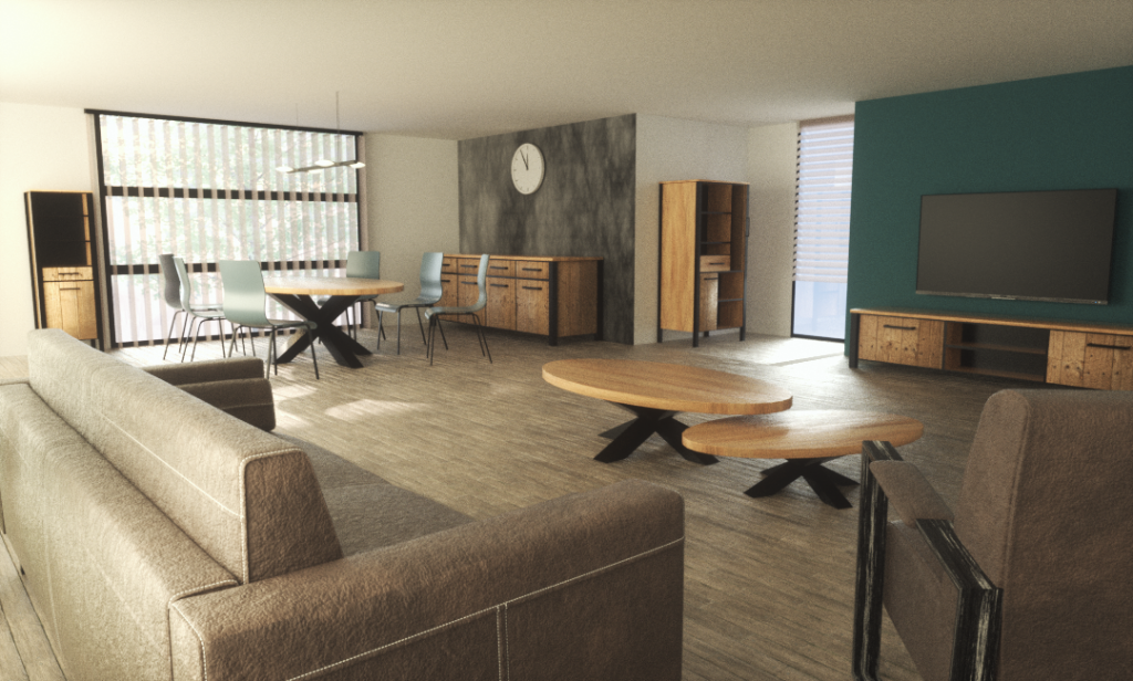 Project 3D Living room visualisation